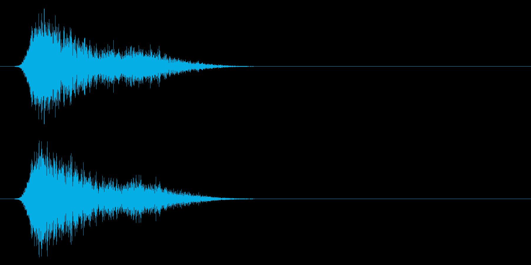 コミカルなダッシュ!ジャンプ効果音!7bの再生済みの波形