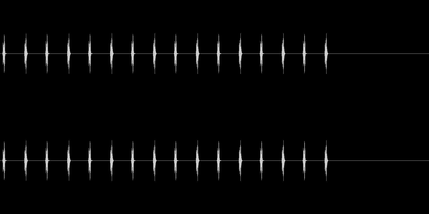BPM120の4分間隔で鳴る時計の針の音の未再生の波形