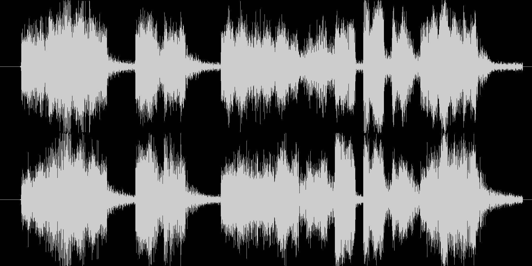 コミカルな場面転換やアイキャッチ向きの未再生の波形