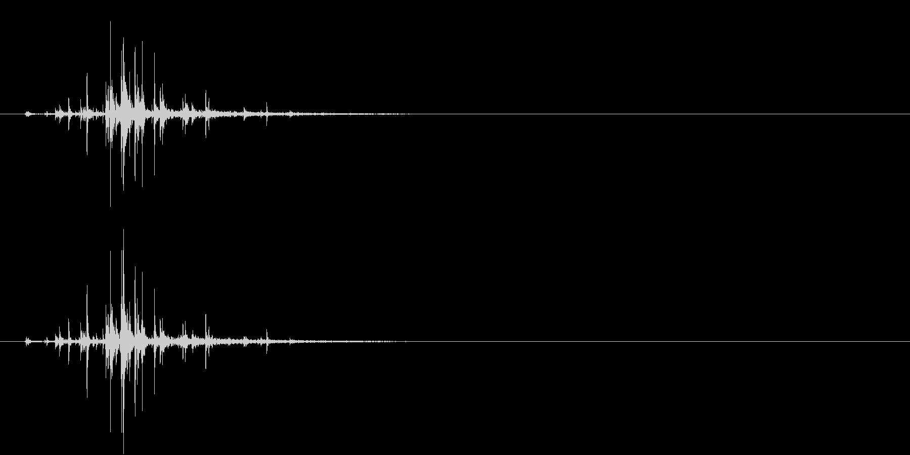 カラン~(チャフチャスを一度振る音)響くの未再生の波形