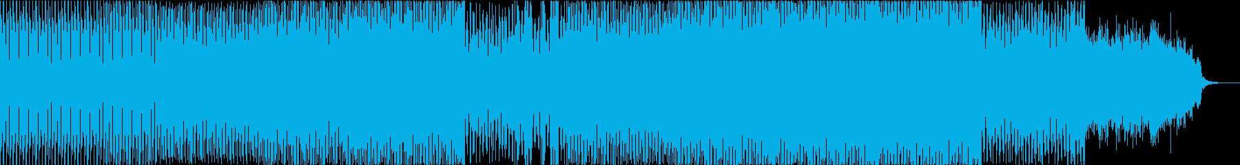 とにかくミニマルなテクノの再生済みの波形