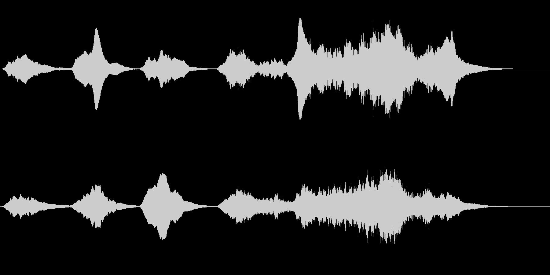 劇伴 不安を掻き立てる弦楽器アンビエントの未再生の波形