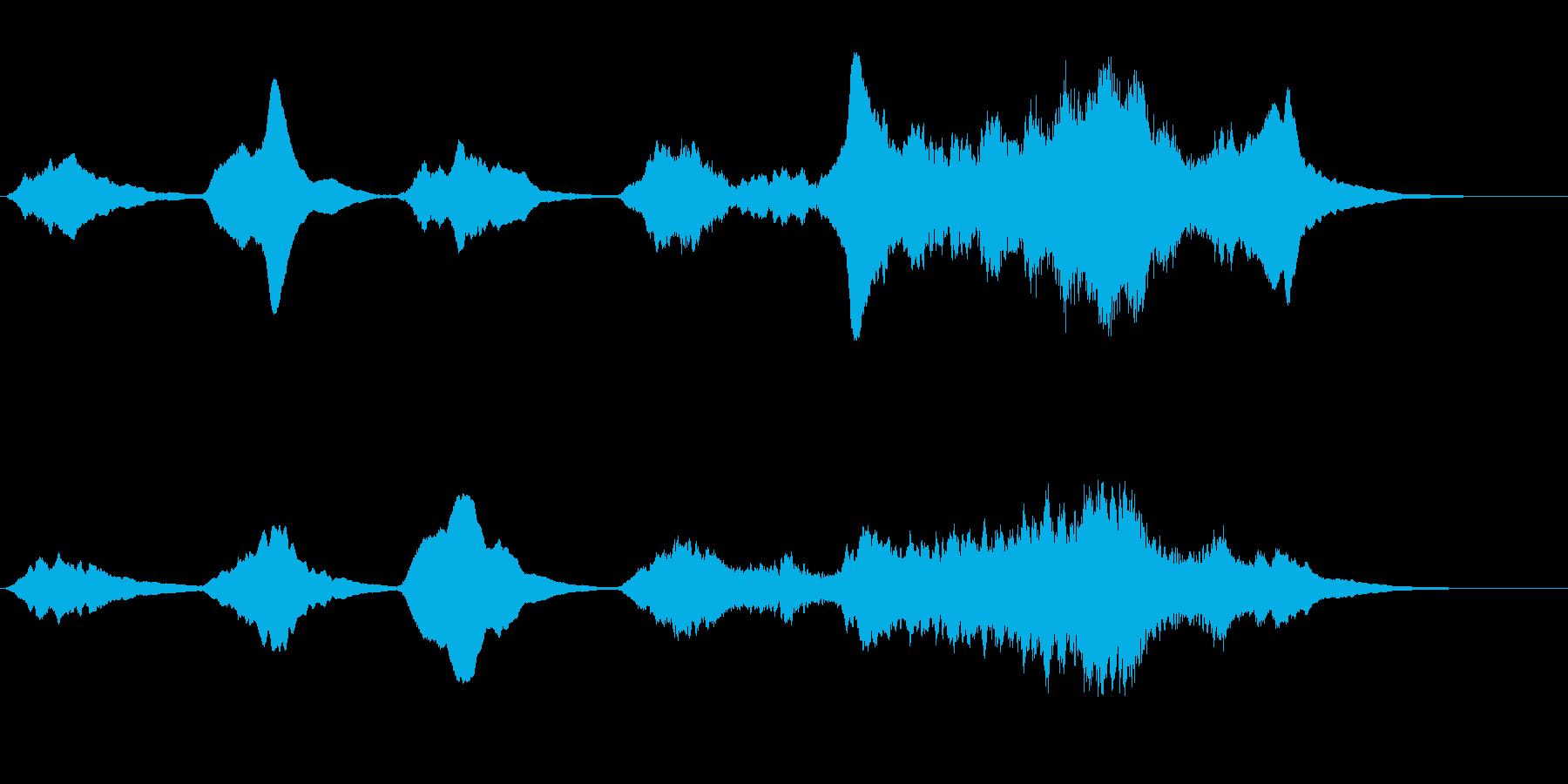 劇伴 不安を掻き立てる弦楽器アンビエントの再生済みの波形