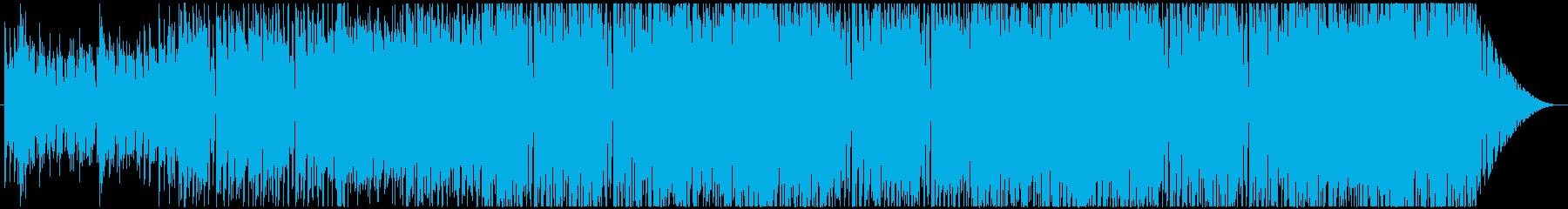 軽やかで明るいテクノポップの再生済みの波形