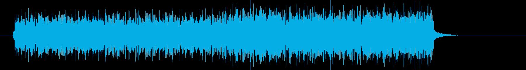 疾走感のあるベースラインのテクノポップの再生済みの波形