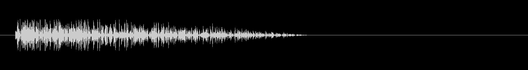 8bitの爆発音 ボーンの未再生の波形