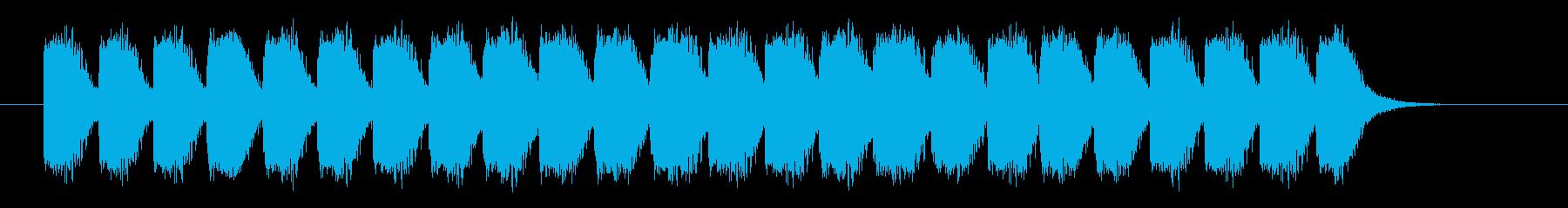 非常事態音の再生済みの波形