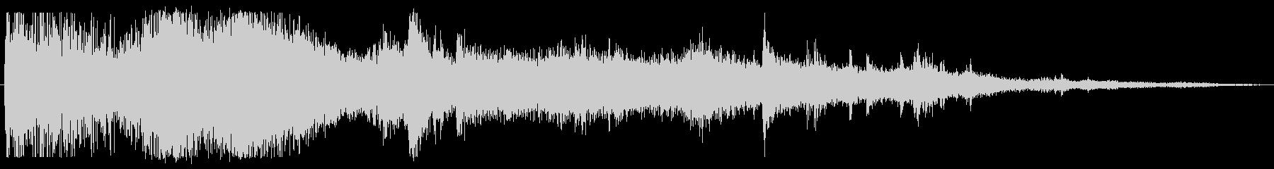 ドカーン 破壊音の未再生の波形