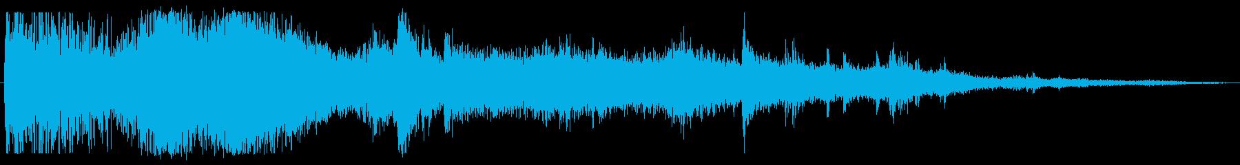 ドカーン 破壊音の再生済みの波形