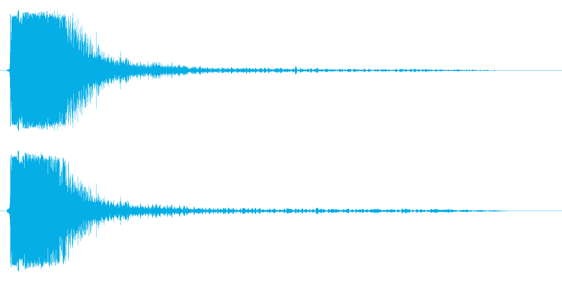 パシッという強い効果音の再生済みの波形