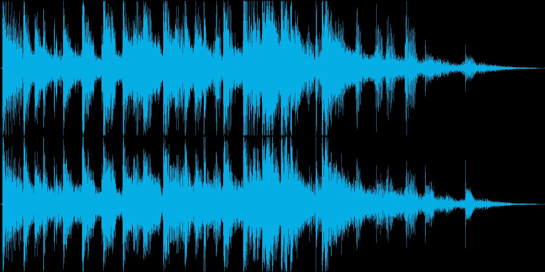 面白いはしゃぐ雰囲気エンタメ系_場面転換の再生済みの波形