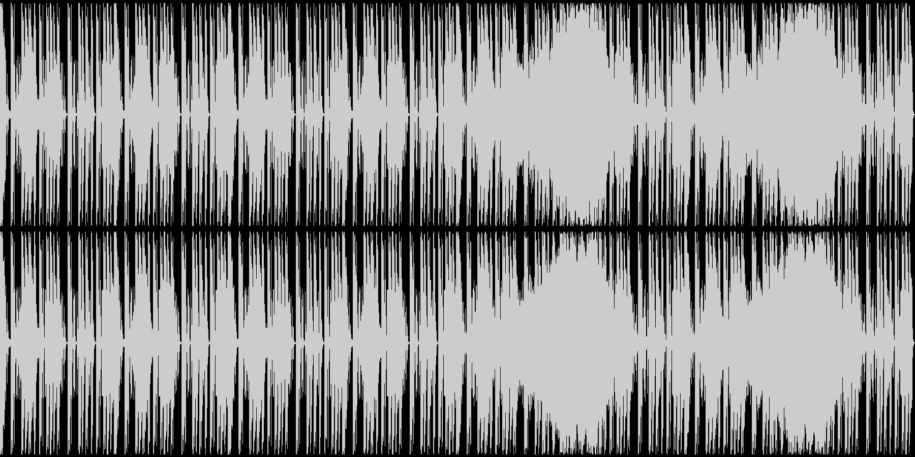 【ミステリアス】ゲーム、ロング1の未再生の波形