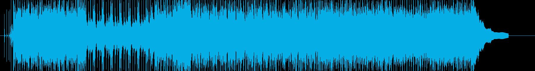 アコギ、エレキメインのポップインストの再生済みの波形