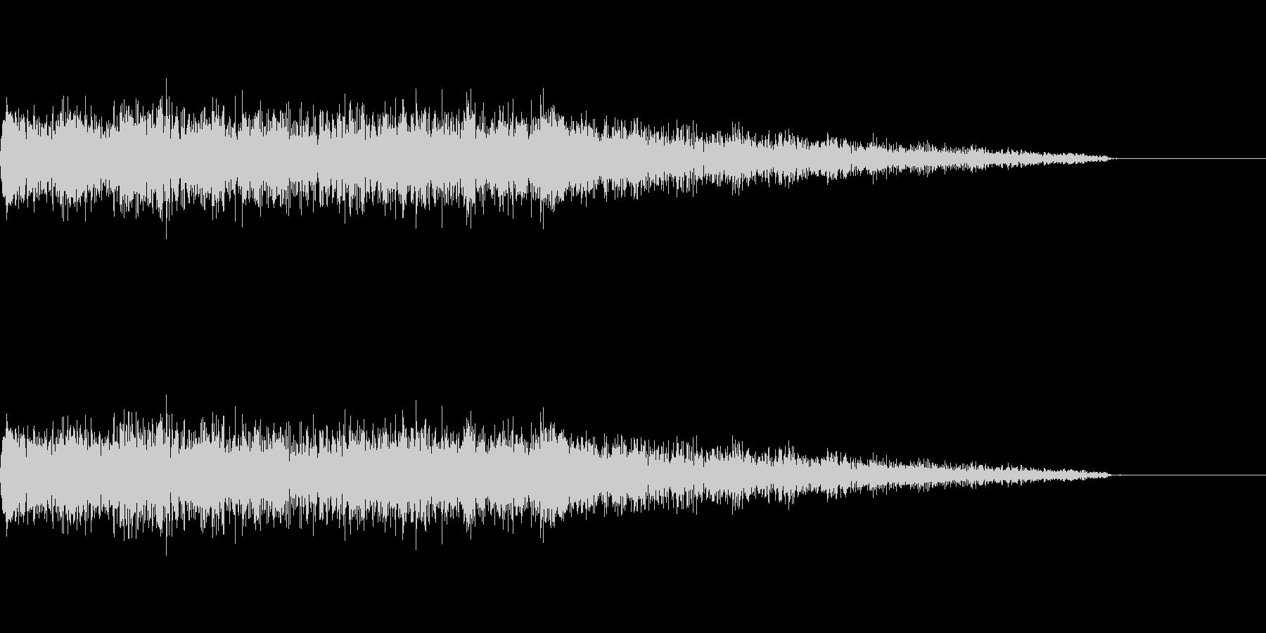 ポップな成功音の未再生の波形