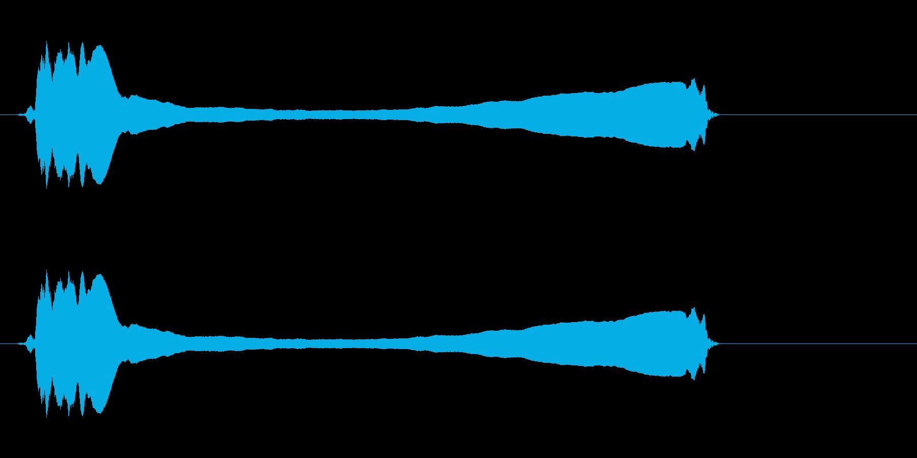 篠笛(六本調子)の最も高いひしぎです。の再生済みの波形
