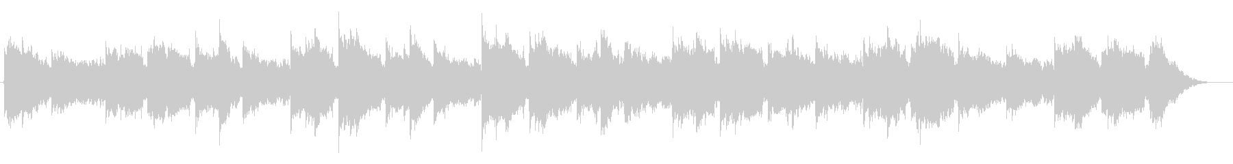 ラブドラムを使ったノスタルジックBGMの未再生の波形