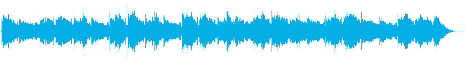 ラブドラムを使ったノスタルジックBGMの再生済みの波形