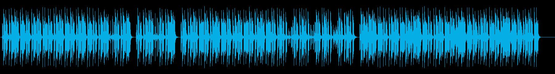ゆったりおしゃれなシンセピアノサウンドの再生済みの波形