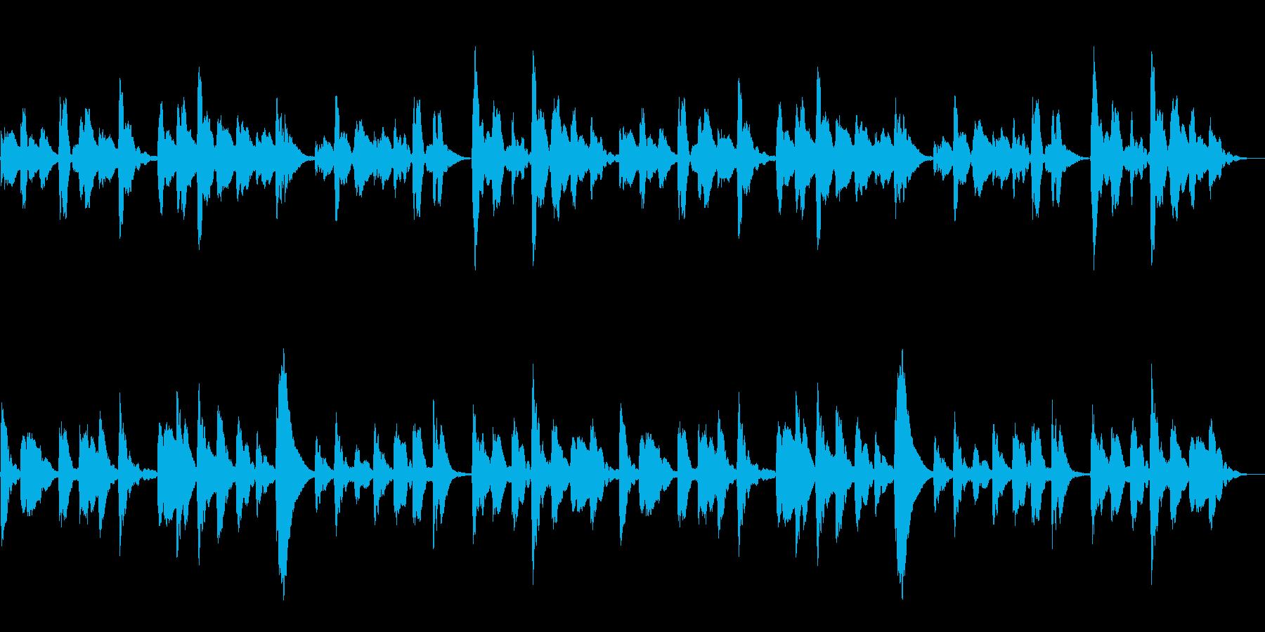 ホラーに使えるベルを使ったBGMの再生済みの波形