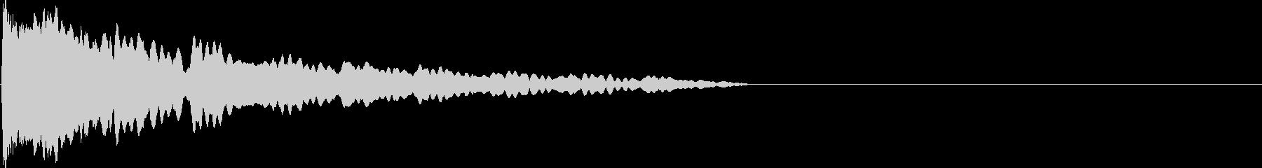 ぽよよよん(アニメ的な効果音)の未再生の波形