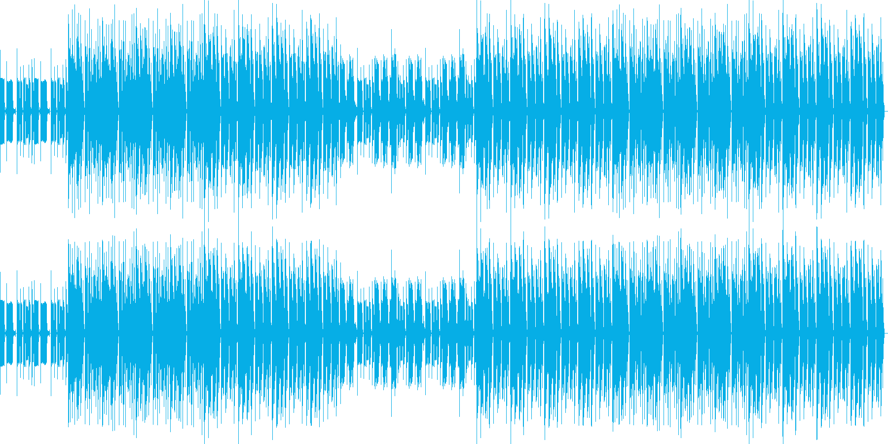 おしゃれ・低音重視・EDM・ベース13の再生済みの波形