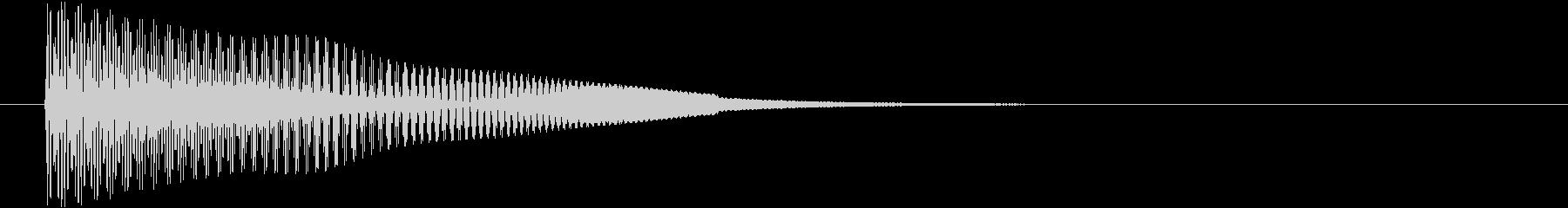 ピョオーン ジャンプなど上昇音の未再生の波形