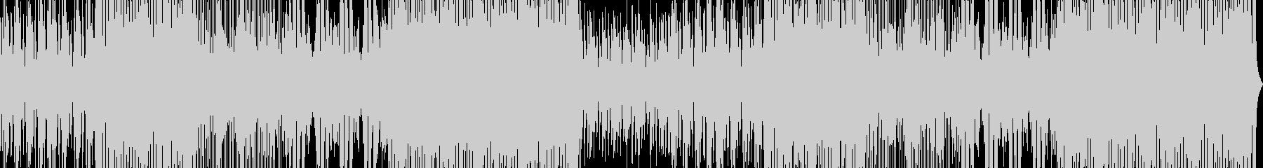 生三味線と和太鼓 疾走感のある和風BGMの未再生の波形