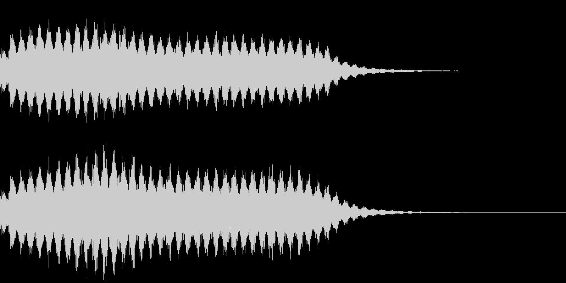 シュワシュワ 泡 爽快 音の未再生の波形
