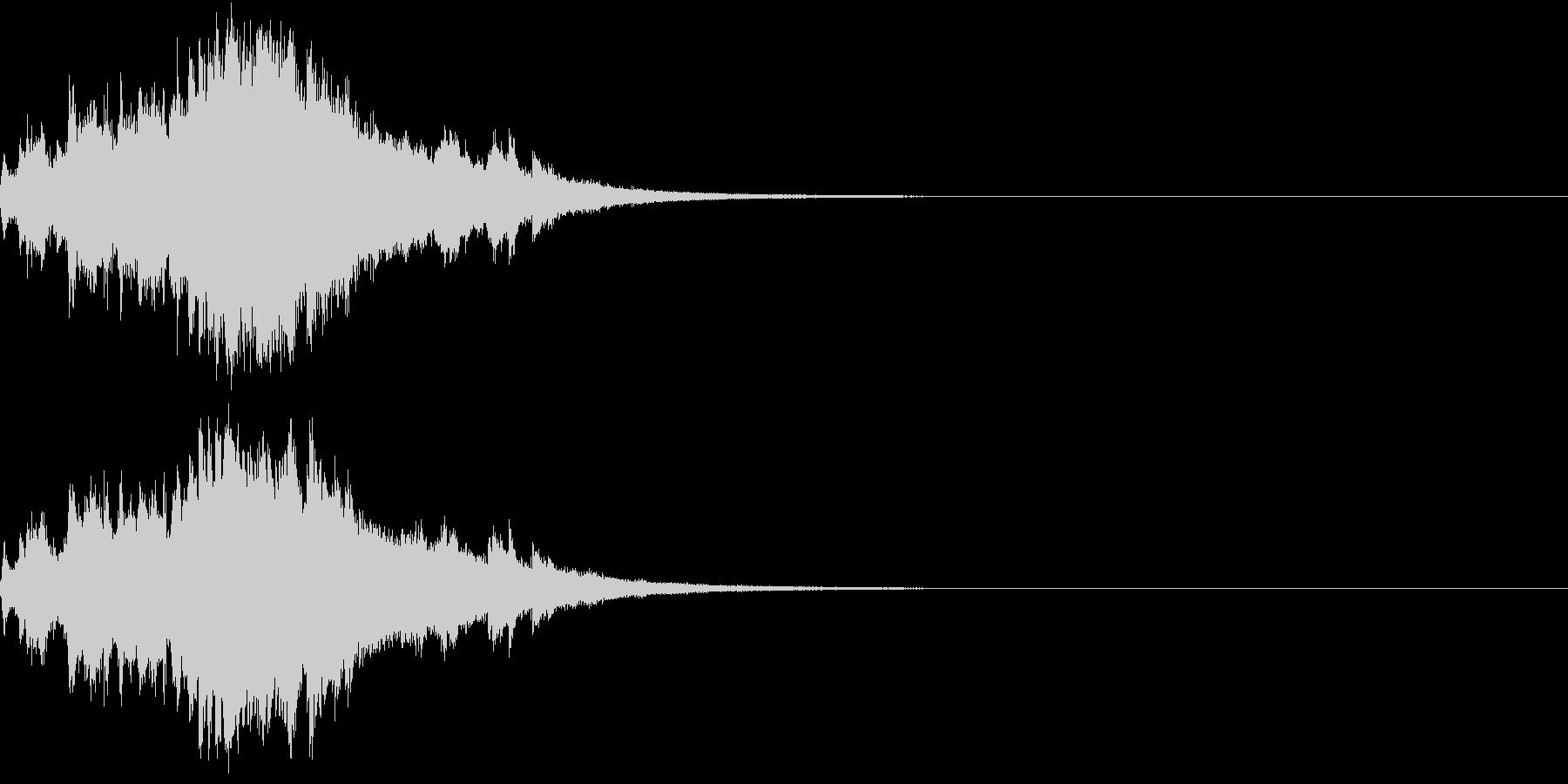 クリスマス ジングルベル キラキラ 08の未再生の波形