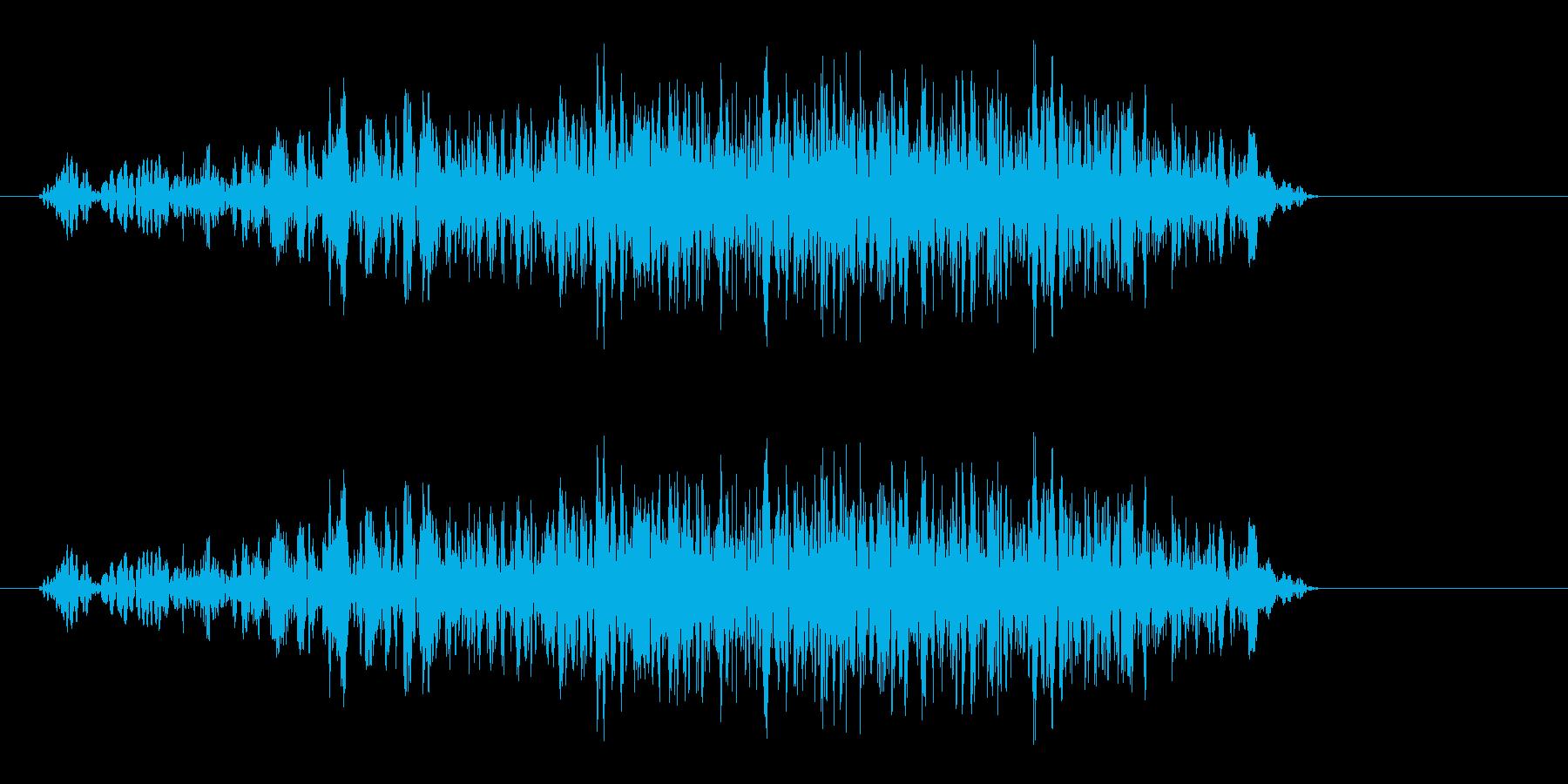 フュシュー(高速飛行音)の再生済みの波形