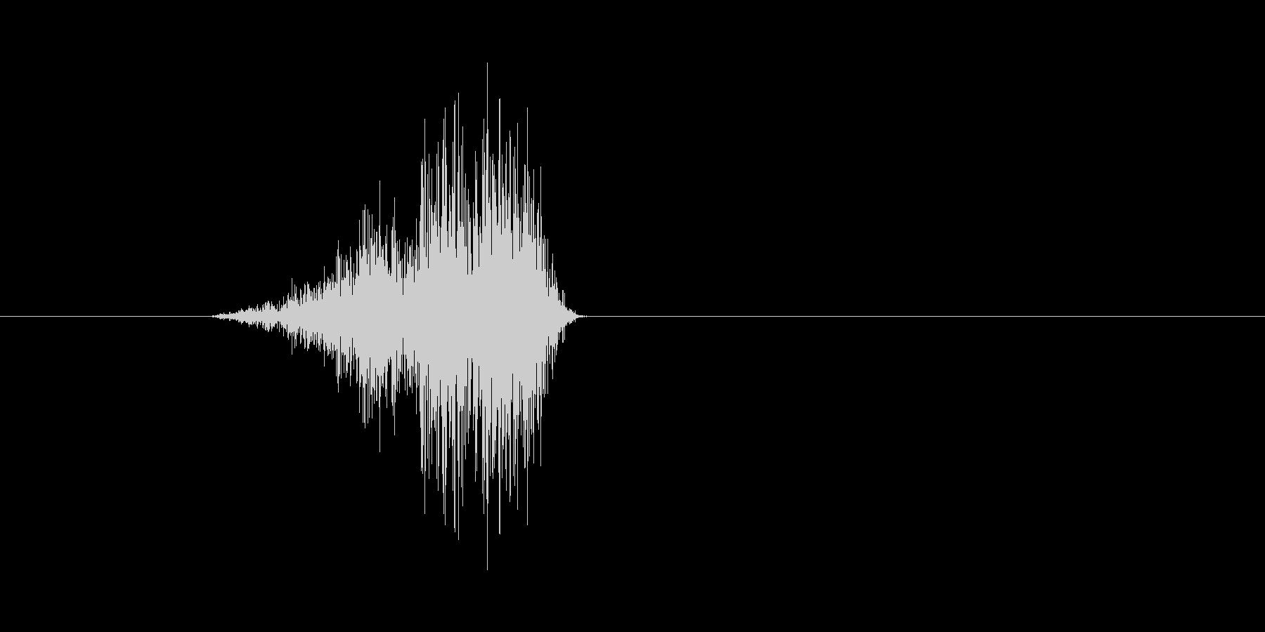 ヒュバッ(弓矢、攻撃、刺さる)の未再生の波形