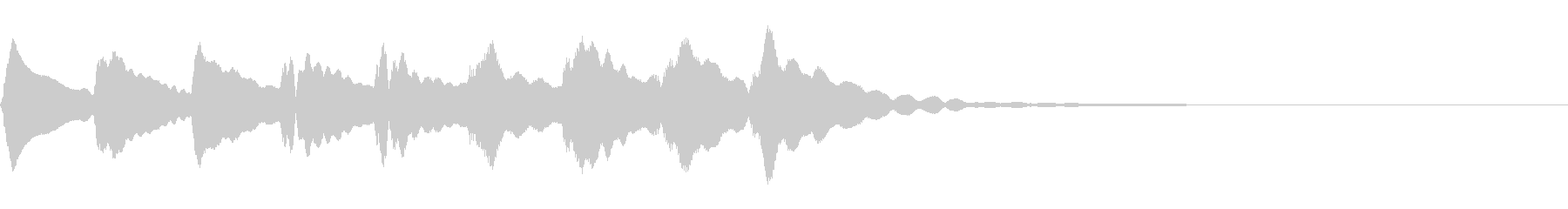 マリンバの下降音の未再生の波形