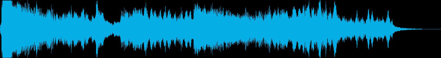 14秒・尺八、琴、弦楽器の静かなジングルの再生済みの波形
