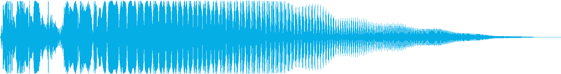 タッチ音の再生済みの波形