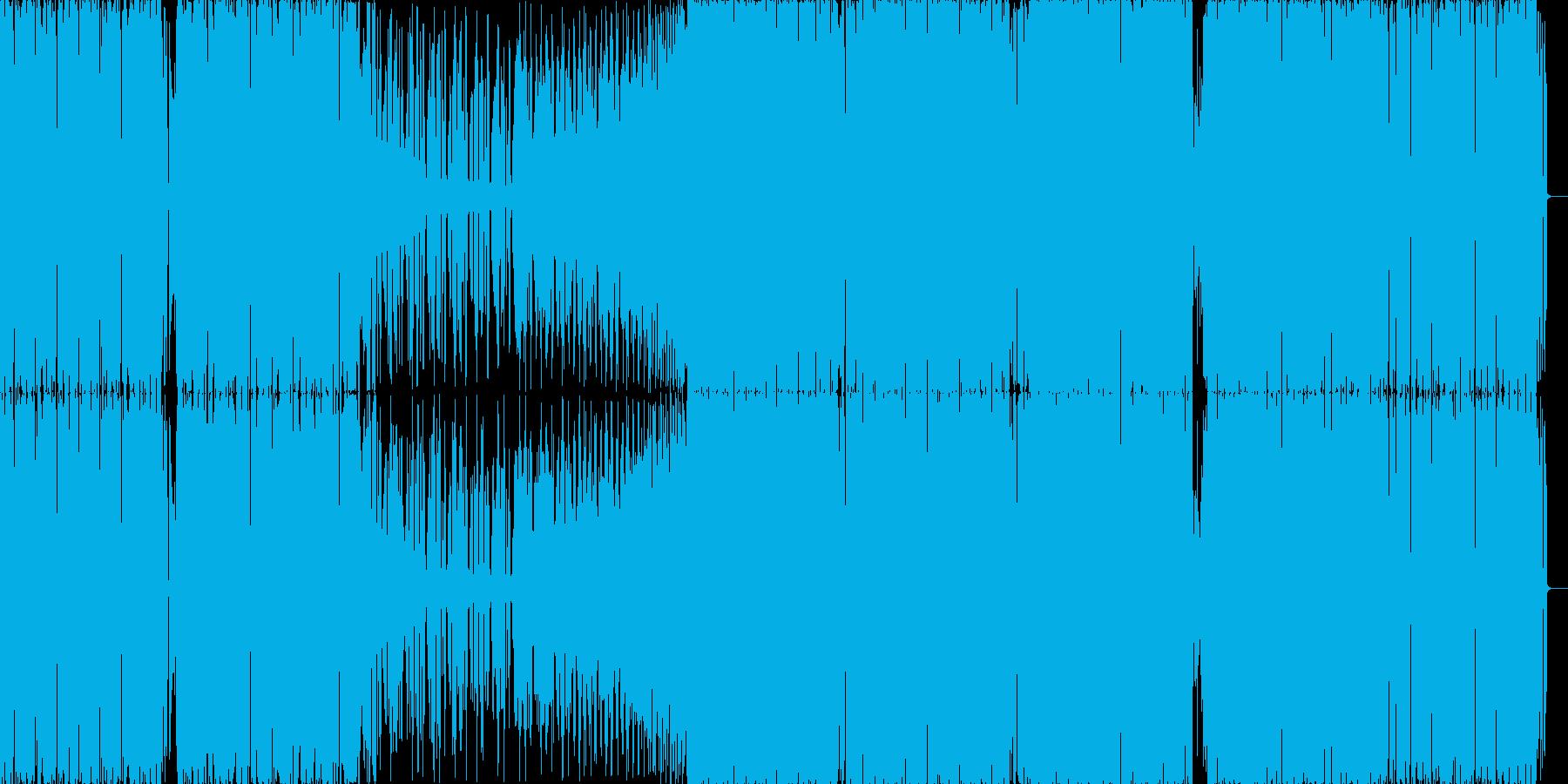 ハード系エレクトロの再生済みの波形