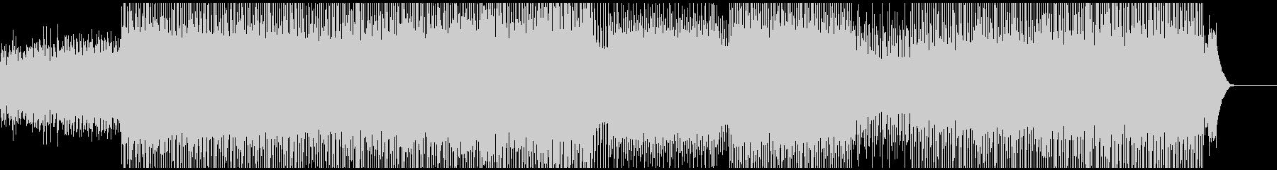 荒ぶるEDMの未再生の波形