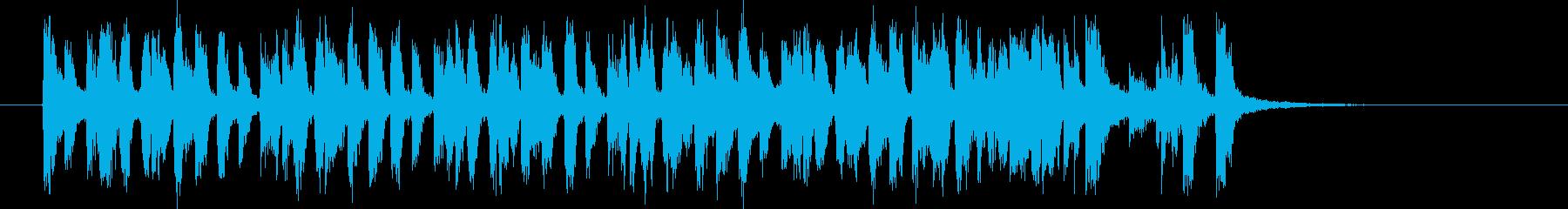 1960年代ポップスサウンドの再生済みの波形
