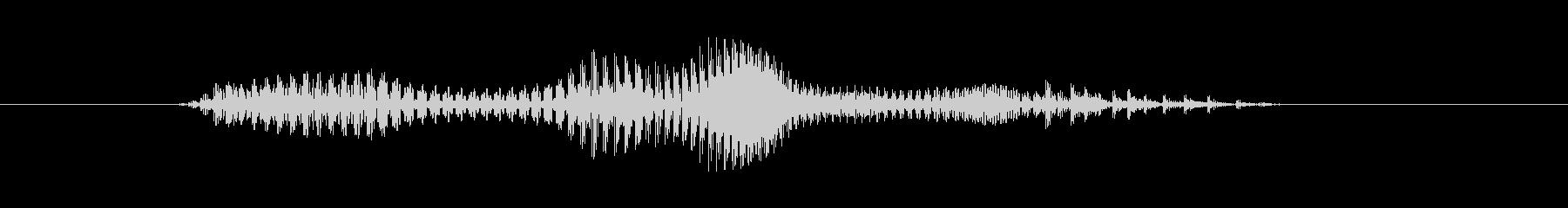 ゴリラ(Gorilla)の未再生の波形