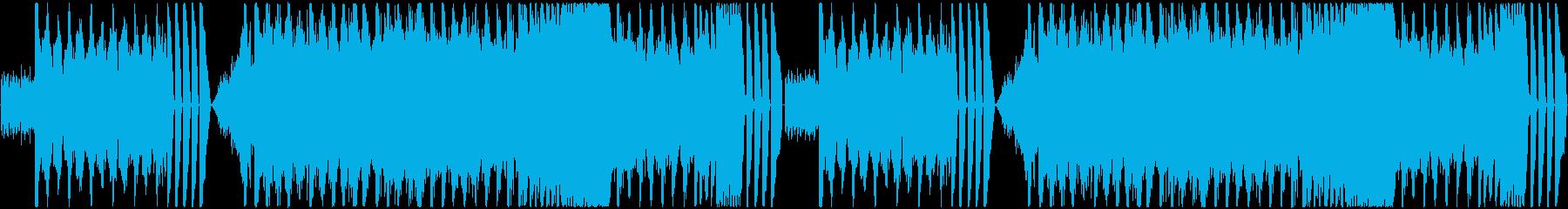 コミカルさとシリアスさのあるEDMの再生済みの波形