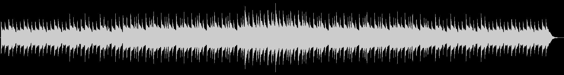 不安を煽る静かなホラー系オルゴール曲の未再生の波形
