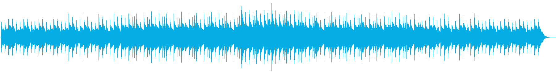 不安を煽る静かなホラー系オルゴール曲の再生済みの波形
