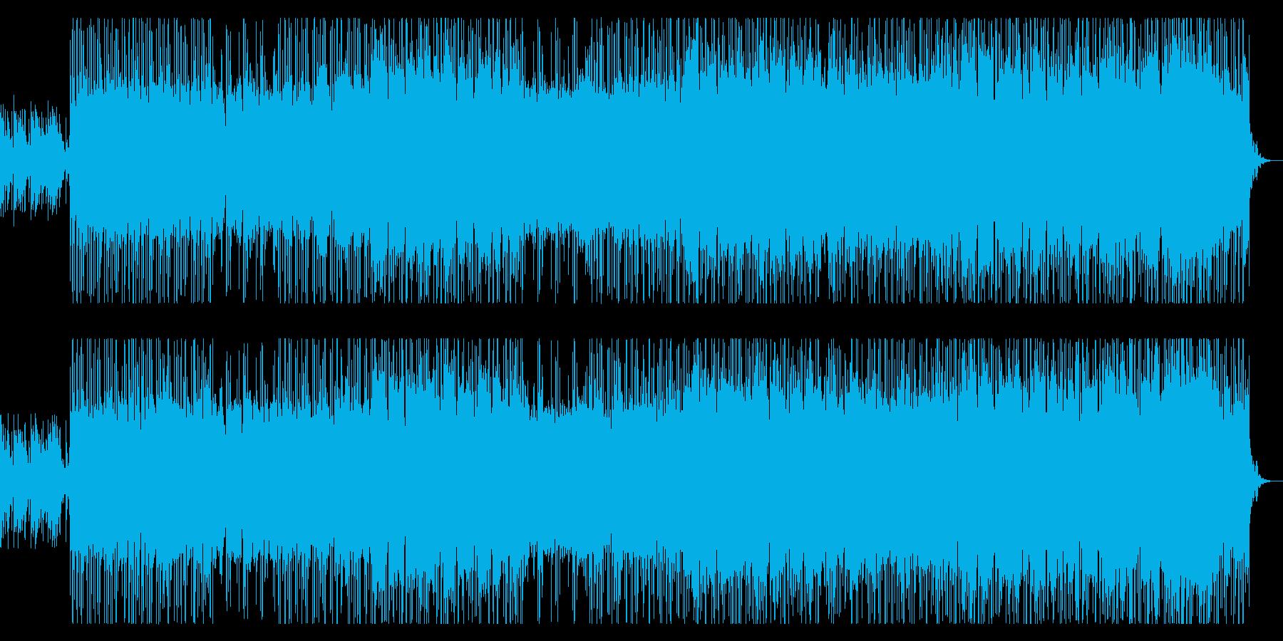 壮大で切ないメロディーのロックの再生済みの波形