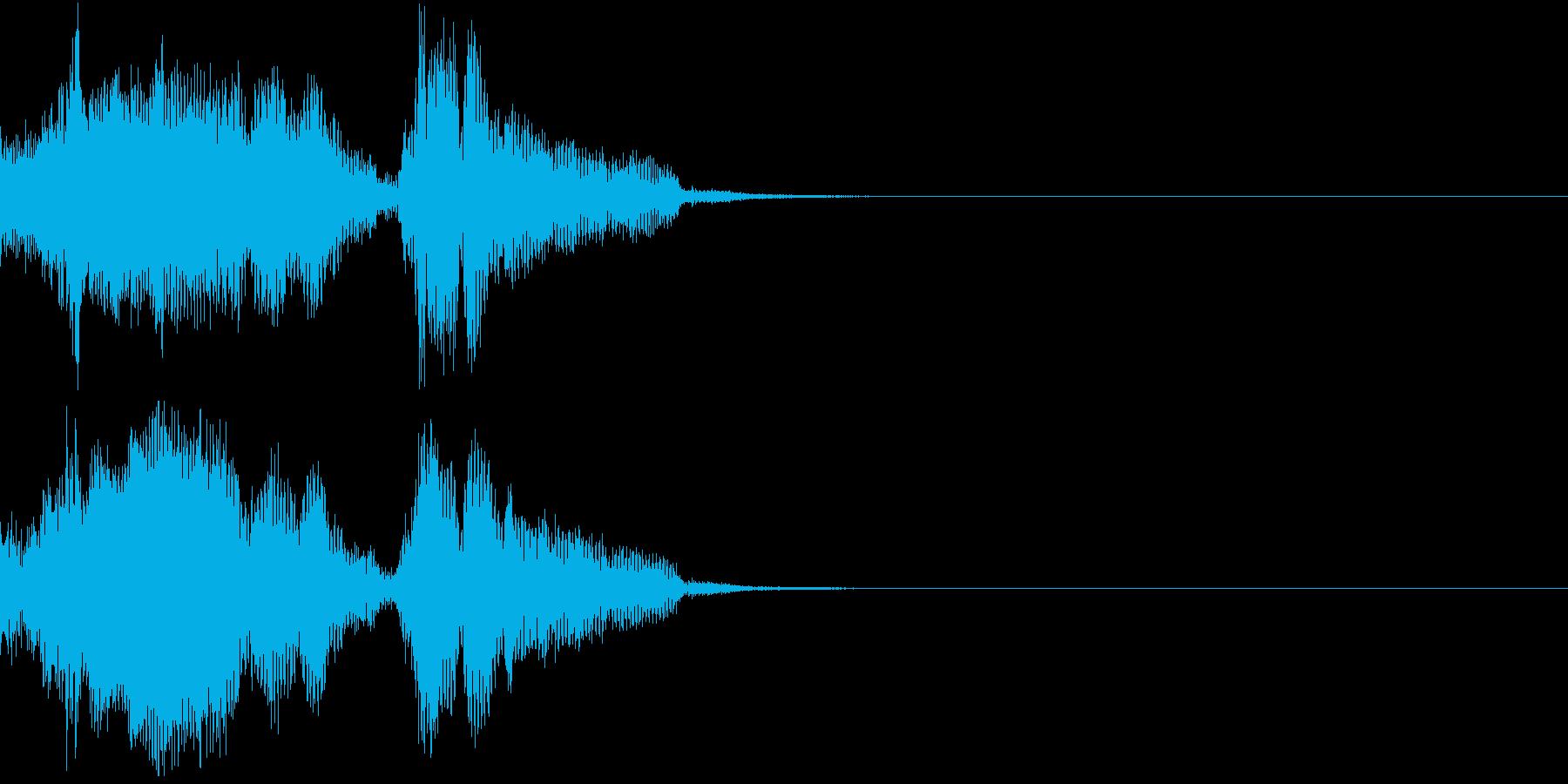 Monster 未知の生物の発する音声2の再生済みの波形