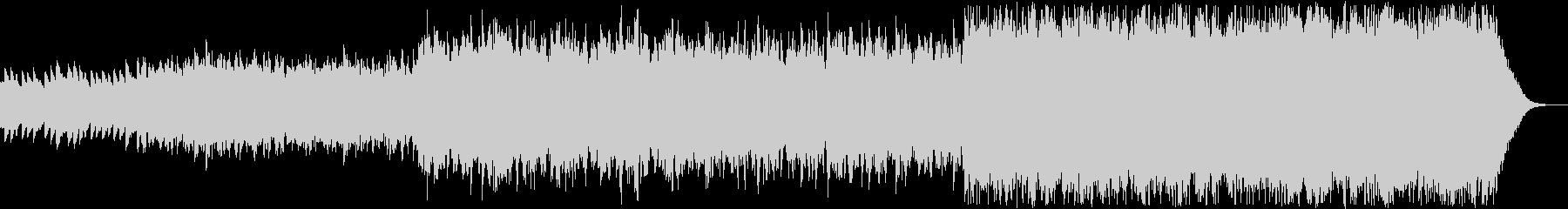 ハープとストリングスの幻想的で静かな曲の未再生の波形