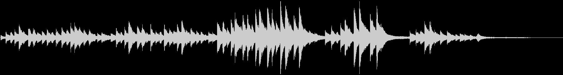 仰げば尊し シンプルなピアノソロの未再生の波形