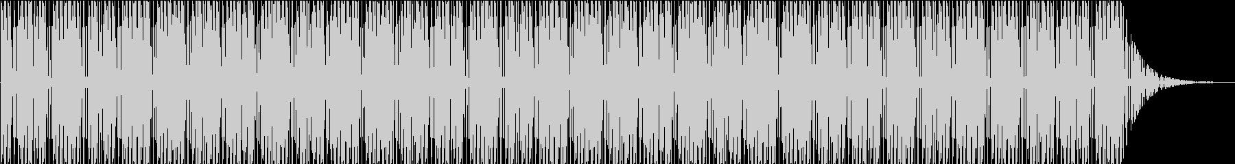 シンプルなヒップホップ系BGMの未再生の波形