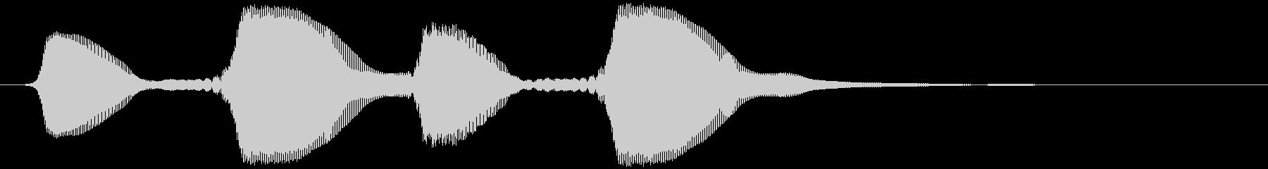 パフパフ(ラッパ、イケイケ風)の未再生の波形