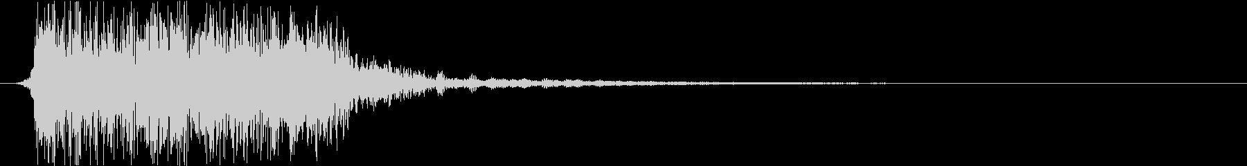 ヘヴィロック風ジングル2秒の未再生の波形