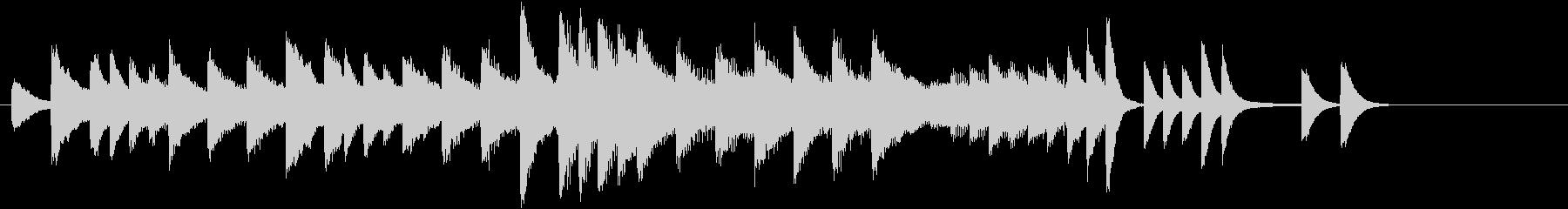 クリスマスおめでとうピアノジングルAの未再生の波形