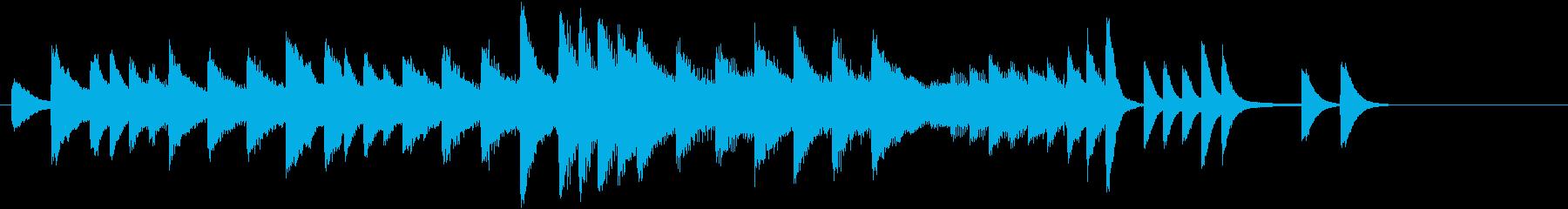 クリスマスおめでとうピアノジングルAの再生済みの波形